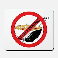 STOP FINNING SHARKS Mousepad