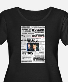 Obama: The 44th President Hea Plus Size T-Shirt