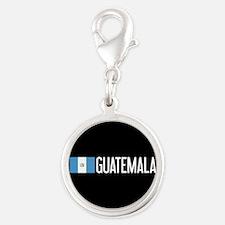 Guatemalan Flag & Guatemala Silver Round Charm