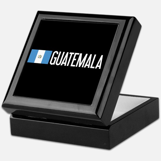 Guatemalan Flag & Guatemala Keepsake Box