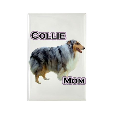 Collie Mom4 Rectangle Magnet (100 pack)