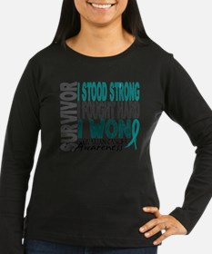 Survivor 4 Ovarian Cancer Shirts and Gifts Long Sl