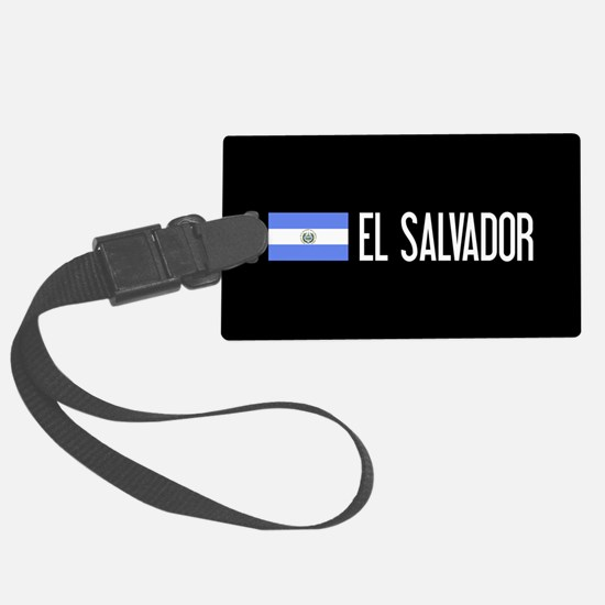 El Salvadoran Flag & El Salvador Luggage Tag