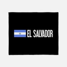 El Salvadoran Flag & El Salvador Throw Blanket