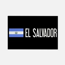 El Salvadoran Flag & El Salvador Rectangle Magnet