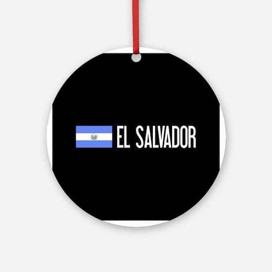 El Salvadoran Flag & El Salvador Round Ornament