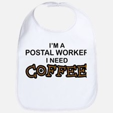 Postal Worker Need Coffee Bib