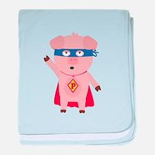 Superhero Pig baby blanket