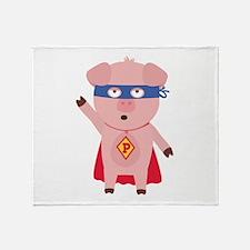 Superhero Pig Throw Blanket