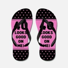 Funny 40th Birthday Flip Flops