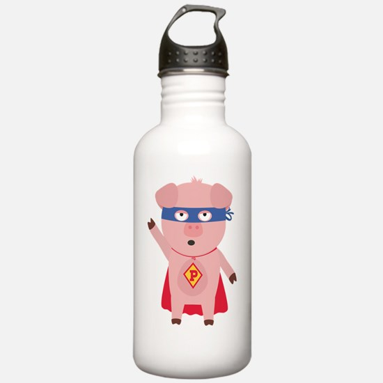 Superhero Pig Water Bottle