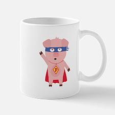Superhero Pig Mugs