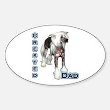 Crested Dad4 Oval Decal