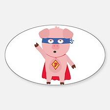 Superhero Pig Decal