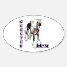 Crested Mom4 Oval Decal