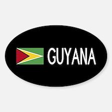 Guyanese Flag & Guyana Sticker (Oval)