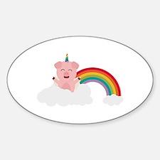 Unicorn Pig on cloud Decal