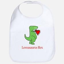 loveasaurusplain.jpg Baby Bib