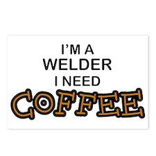 Welder Need Coffee Postcards (Package of 8)