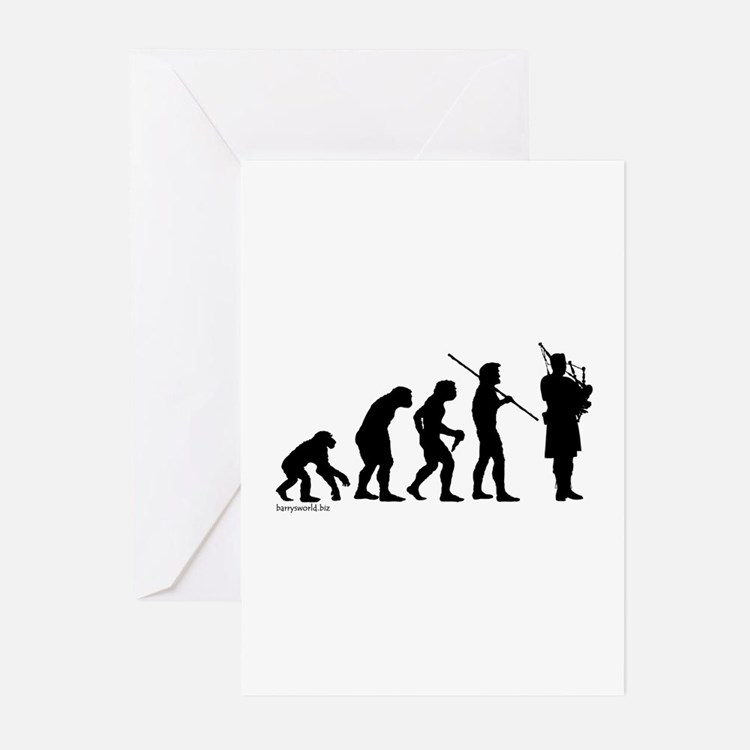 Bagpipe Evolution Greeting Cards