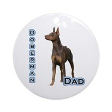 Dobie(rust) Dad4 Ornament (Round)