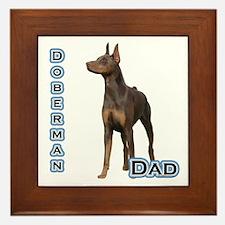 Dobie(rust) Dad4 Framed Tile