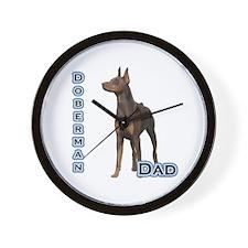 Dobie(rust) Dad4 Wall Clock