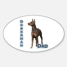 Dobie(rust) Dad4 Oval Decal