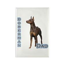 Dobie(rust) Dad4 Rectangle Magnet