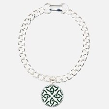 Green Trinity Knot Bracelet