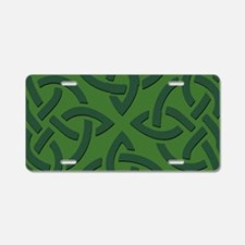 Green on Green Trinity Knot Aluminum License Plate