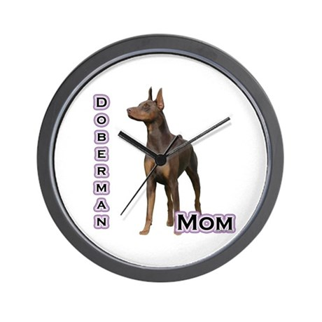 Dobie(rust) Mom4 Wall Clock