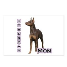 Dobie(rust) Mom4 Postcards (Package of 8)