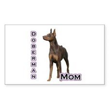 Dobie(rust) Mom4 Rectangle Decal