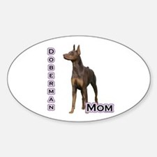 Dobie(rust) Mom4 Oval Decal