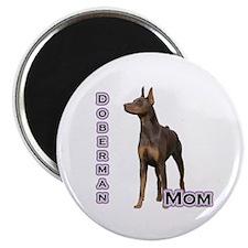 Dobie(rust) Mom4 Magnet