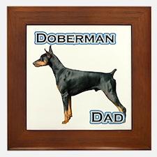 Dobie(blk) Dad4 Framed Tile