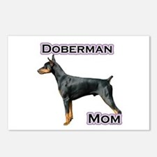 Dobie(blk) Mom4 Postcards (Package of 8)