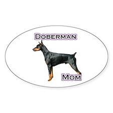 Dobie(blk) Mom4 Oval Decal