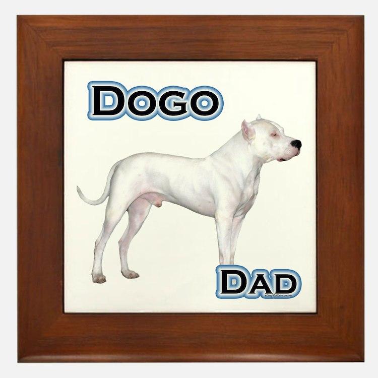 Dogo Dad4 Framed Tile