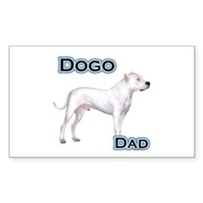 Dogo Dad4 Rectangle Decal