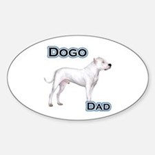 Dogo Dad4 Oval Decal