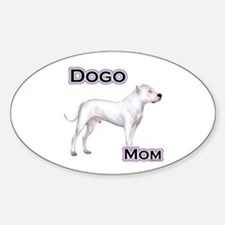Dogo Mom4 Oval Decal