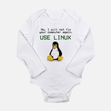 Use Linux Infant Creeper Body Suit