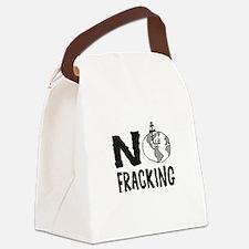 No Fracking Canvas Lunch Bag