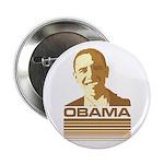 """Barack Obama (Retro Brown) 2.25"""" Button"""