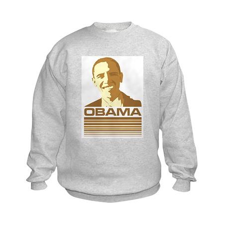 Barack Obama (Retro Brown) Kids Sweatshirt