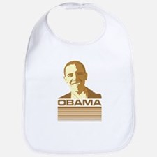 Barack Obama (Retro Brown) Bib
