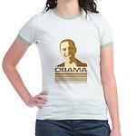 Barack Obama (Retro Brown) Jr. Ringer T-Shirt