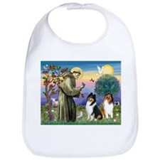 St Francis & Collie Pair Bib
